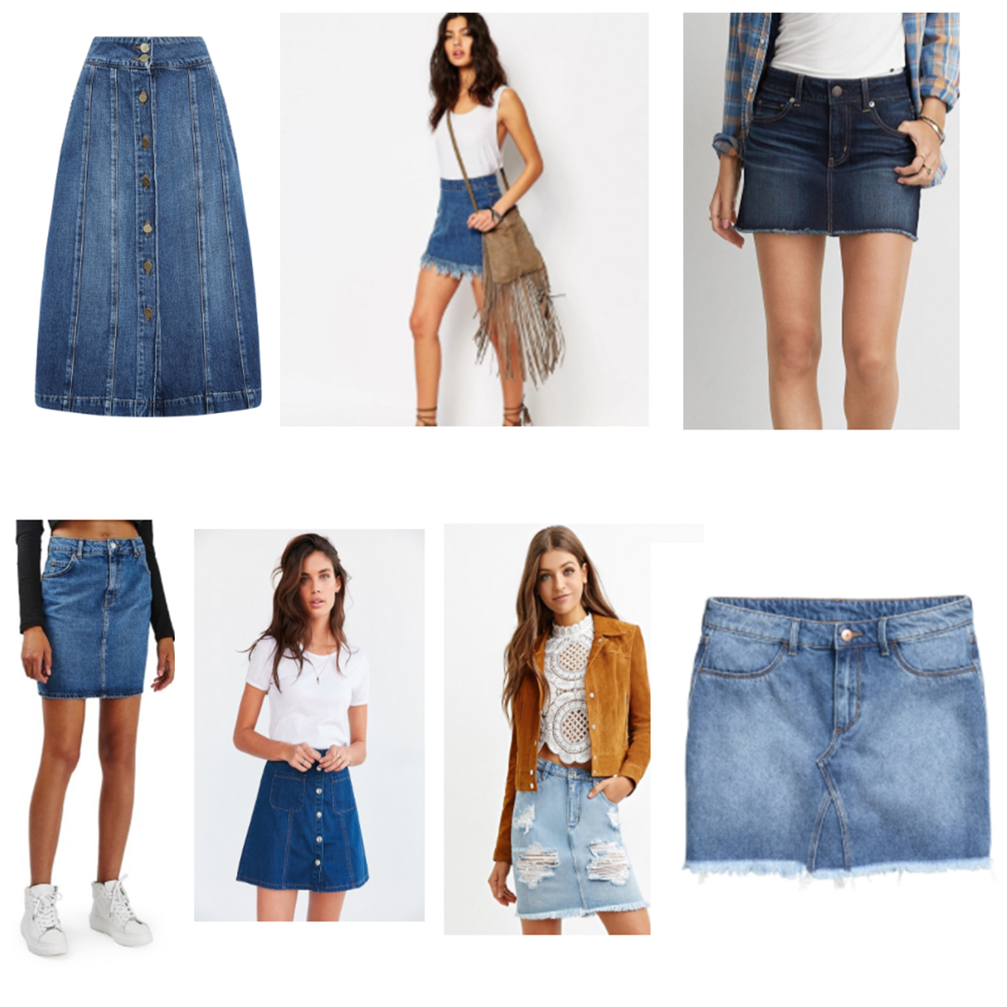 DenimSkirtCollage